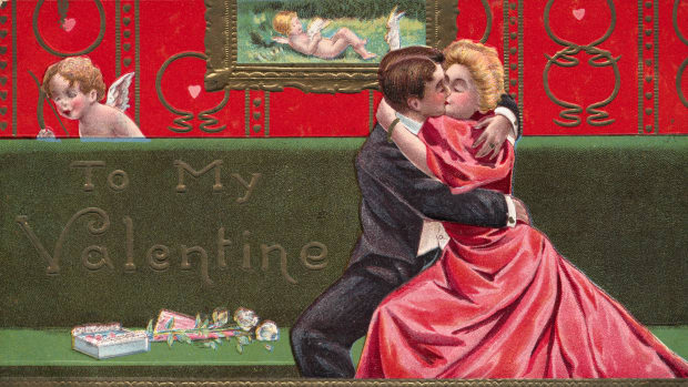 postcard-of-couple-embracing